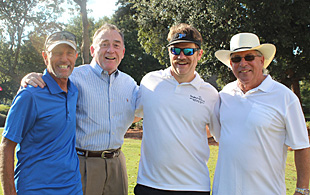 Alan Gieseman, Jack Azzaretto, Ron Adamov, and Dr. Ken Haskin at the 2015 Golf Tournament